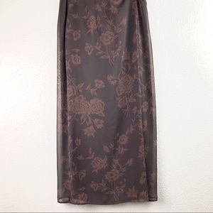 Express VTG Floral Maxi Skirt